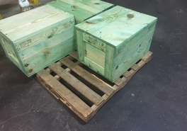 Wood Boxes- Treated Crate